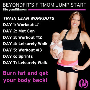 fit mom, weight loss program, 7 day exercise program