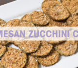 healthy snacks, fit moms, parmesan zucchini chips