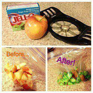 healthy snack ideas for kids, sour patch apples