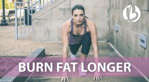 how to burn fat longer, epoc, after burn effect
