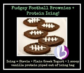 fit moms, healthy game day snacks, fudgey brownies