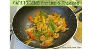 garlic lime shrimp and chicken, healthy chicken recipe, healthy shrimp recipes