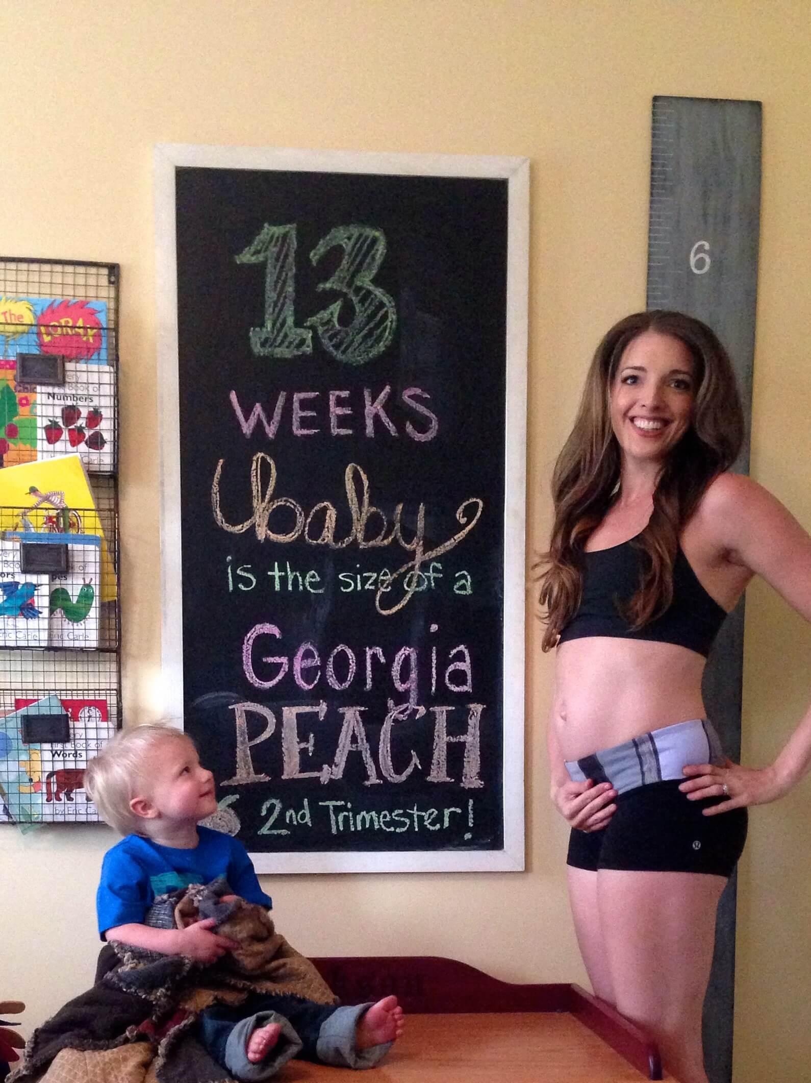 Pregnancy Chalkboard: 13 Weeks