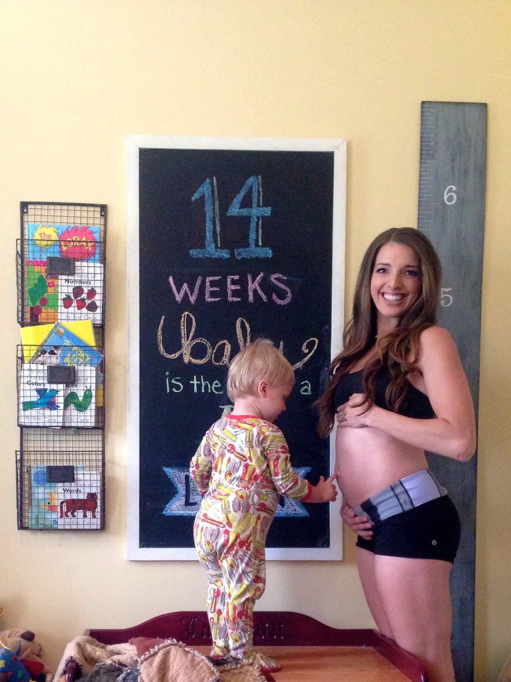 14 Weeks Pregnancy Chalkboard