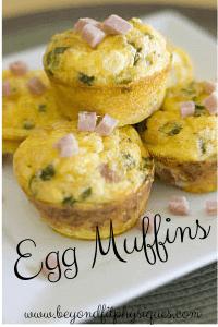 Egg Muffins, meal prep tips