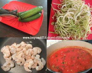 Greek Shrimp With Zucchini Noodles