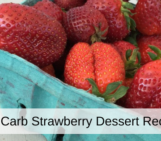 low carb strawberry dessert, healthy strawberry dessert recipe, strawberry recipes