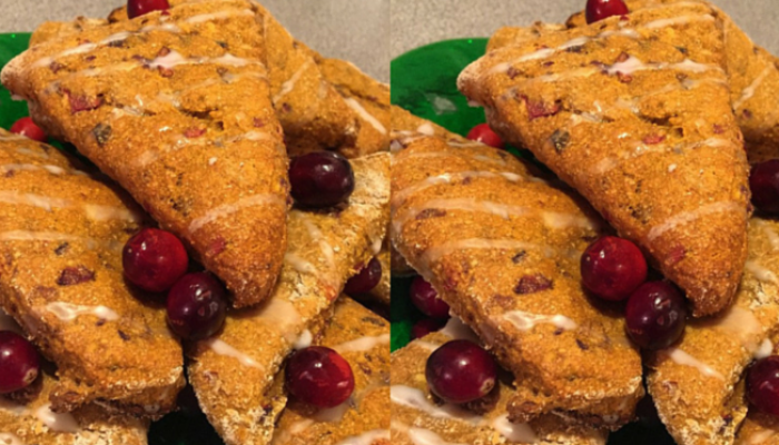 {Recipe} Pumpkin Cranberry Scones
