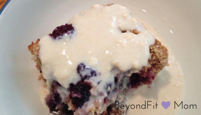 {Recipe} Baked Oatmeal + Icing