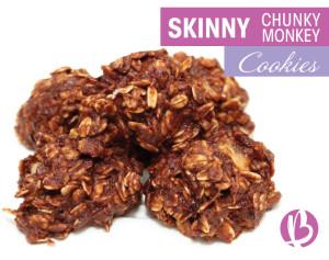 skinny chunky monkey cookies, fat loss friendly chocolate cookies, healthy chocolate cookies