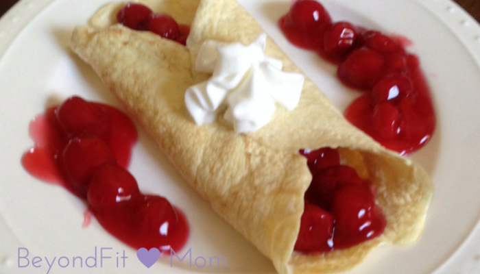 Vanilla Protein Crepe with Cherry Filling