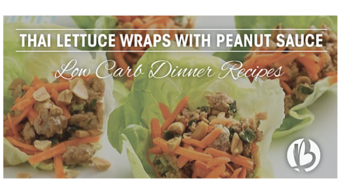 Thai Lettuce Wraps + 4 Low Carb Dinner Recipes