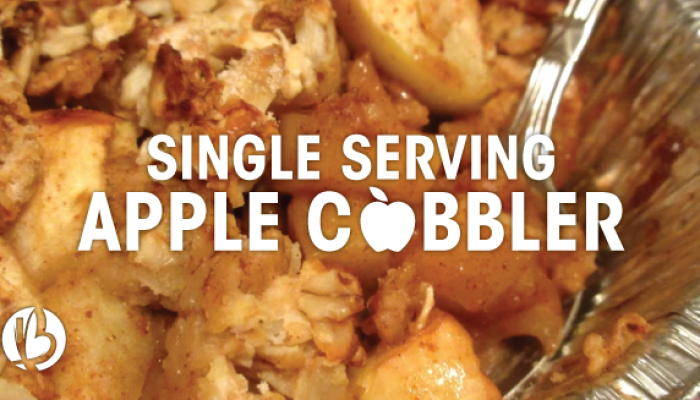 single serving apple cobbler recipe, apple cobbler recipe, healthy apple cobbler, microwave dessert