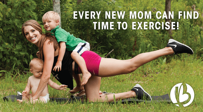 find time to exercise as a new mom, new mom exercise, fit mom