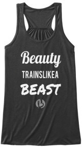 beauty trains like a beast, beast mode