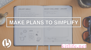 kitlife, simplify your life, daily planner