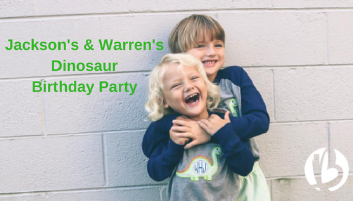 Jackson's & Warren's Dinosaur Birthday Party