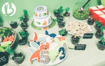 dinosaur birthday party, beyond fit kids, birthday celebration