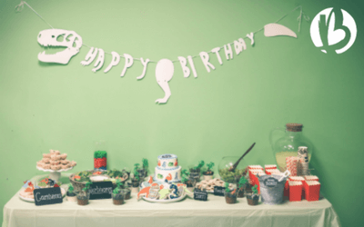 dinosaur birthday party, beyond fit kids, healthy snacks
