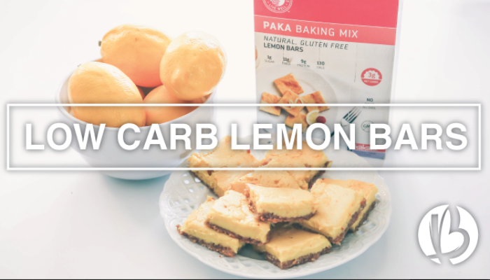 healthy desserts, recipes, Paka Low Carb Lemon Bar Mix