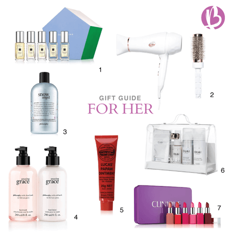 holiday gift guides, for her beauty, fit moms